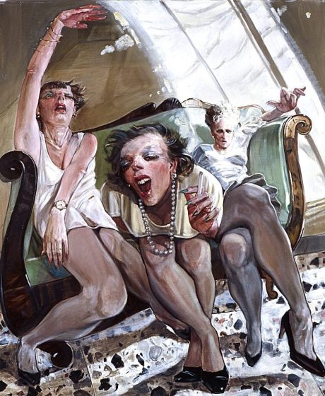 Enrico Robusti (b. 1956, Parma, Italy) - Le Signore Si Divertono (The Ladies Have Fun)