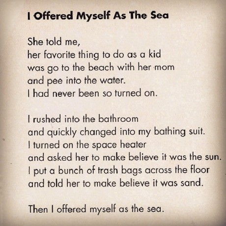'I Offered Myself As The Sea' by Eric Paul