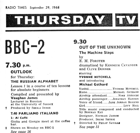 Out of the unknown_Radio Times