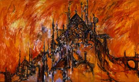 Burning Of Carrion's Palace Clive Barker