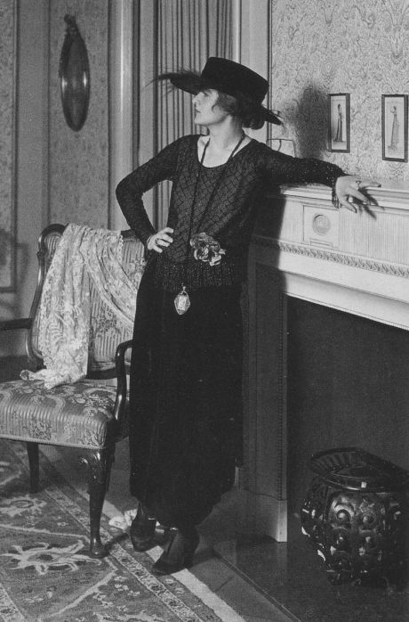 German actress and dancer Anita Berber posing for a fashion magazine, 1918.