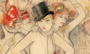 Jeanne Mammen-She represents (carnival scene)
