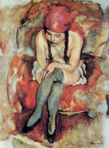 Jules Pascin - Claudine Resting