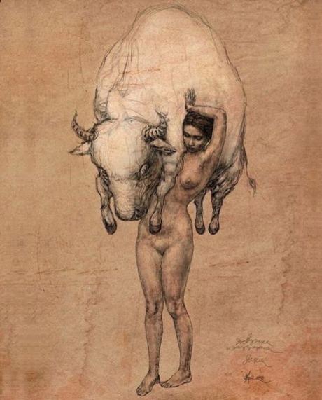 Vladimir Foksnov - Girl & Bull