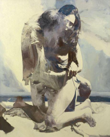 Balcomb Greene - Woman and Man By the Sea