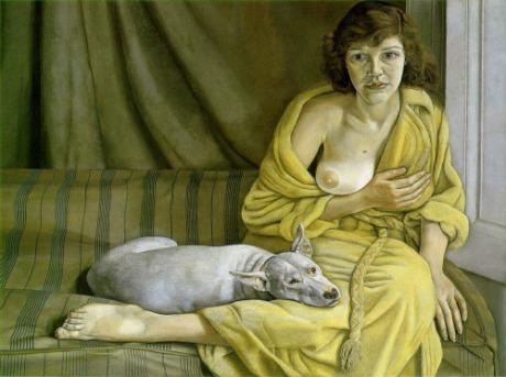 Girl with a White Dog - Lucian Freud