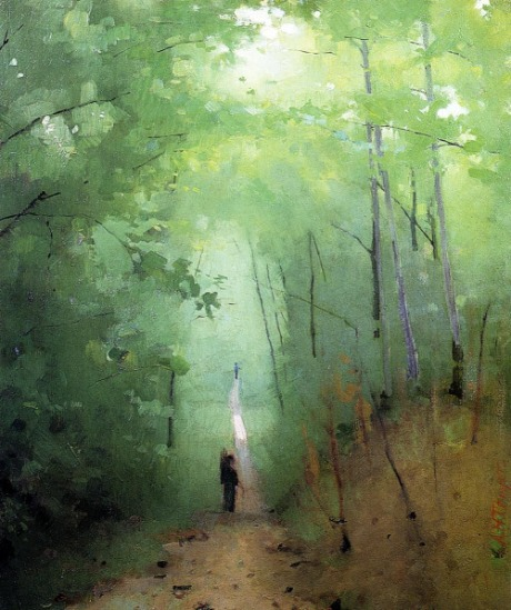 Landscape at Fontainebleau Forest - Abbott Handerson Thayer