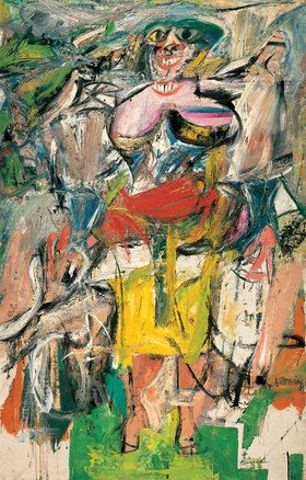 Willem de Kooning - woman on a bicycle