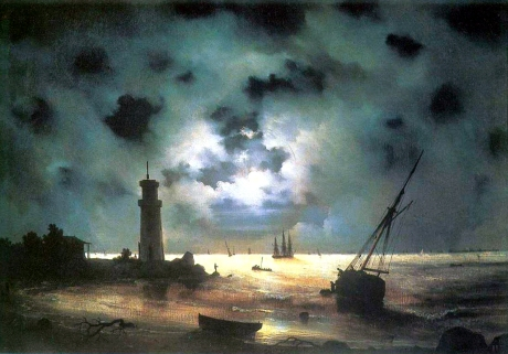 Coast of Sea at Night - Ivan Aivazovsky
