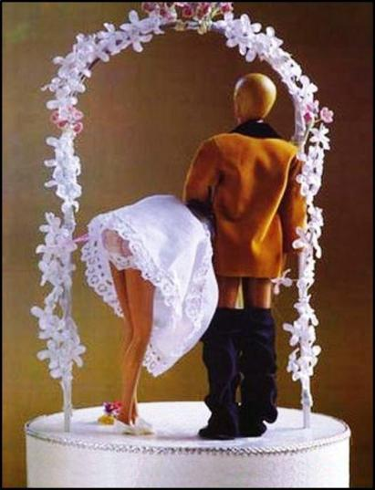 Ken and Barbies wedding day