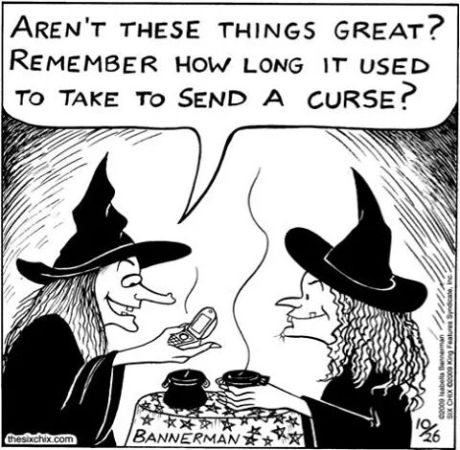 cellphone and witch