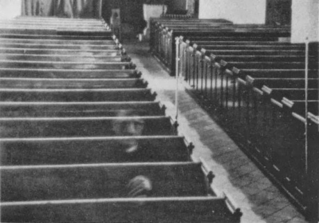 Ghost Vicar at rest in his church