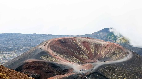 Mount Etna - the Silvestri Craters where we paused for lunch