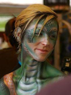 A snake girl