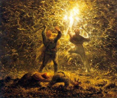 hunting-birds-at-night-jean-francois-millet