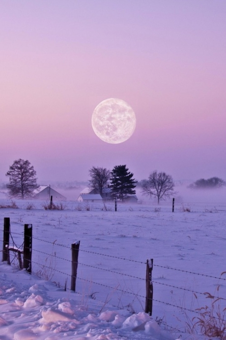 snow-and-moon