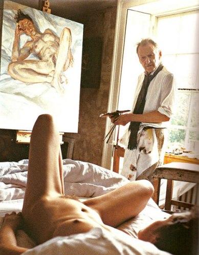 david-dawson-lucian-freud-in-his-studio-painting-his-daughter-bella