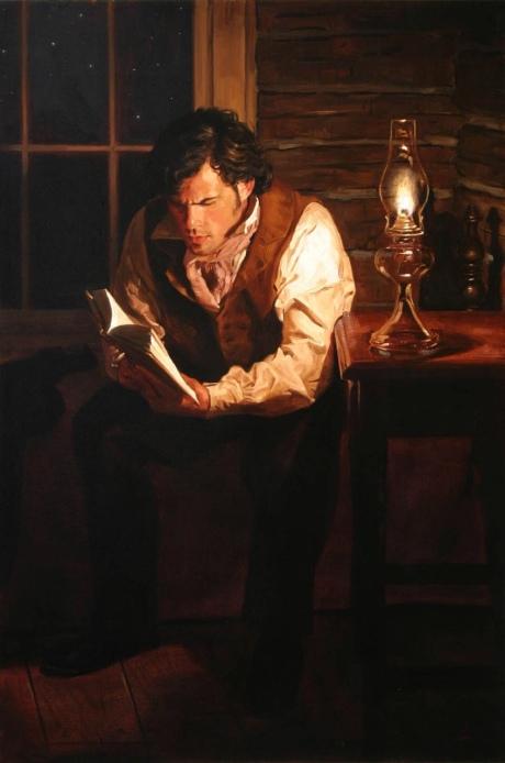 man-reading-by-lamplight-jeffrey-hein