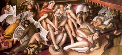 bridesmaids-at-cana-stanley-spencer