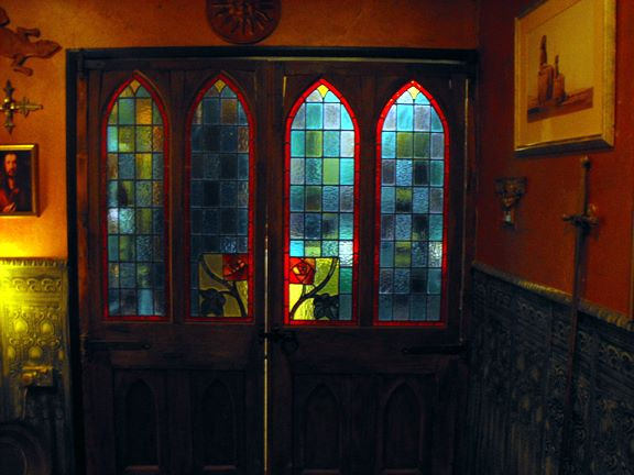 Tanith Lee's house - stained glass