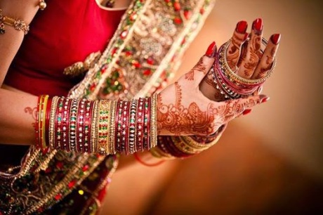 A woman with bangles