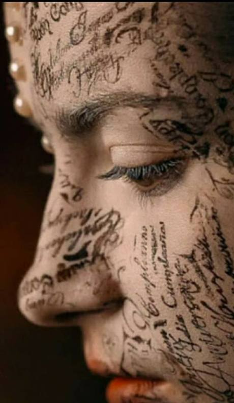face writing