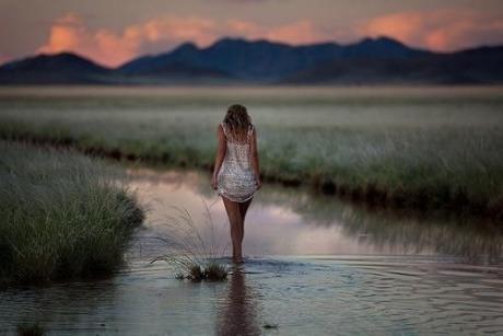 walking in the stream